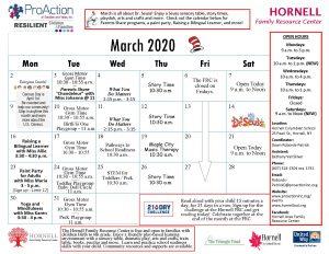 Hornell FRC March 2020 calendar 300x232 - Hornell FRC March 2020 calendar