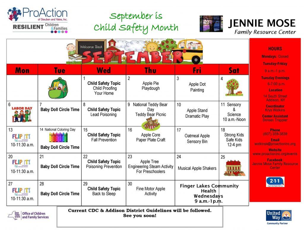 JMFRC Addison Calendar September 2021 1024x791 - ProAction Family Resource Center Calendars (September)