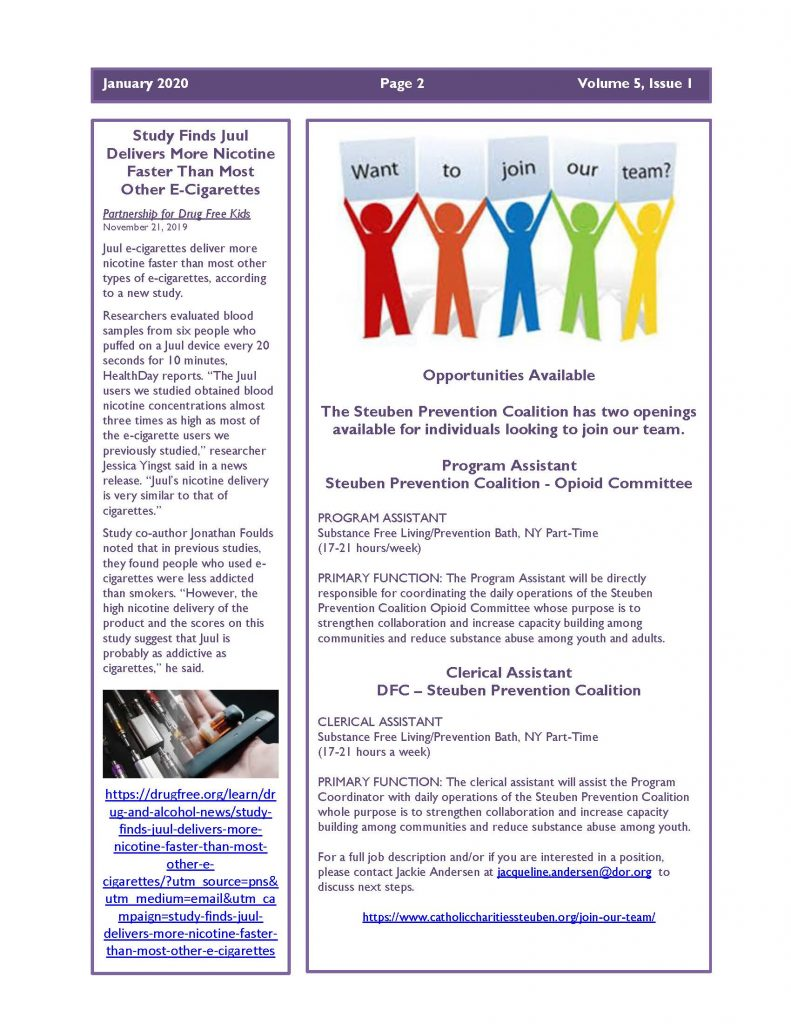 January 2020 Newsletter Page 2 791x1024 - Steuben Prevention Coaliton - Ounce of Prevention Newsletter
