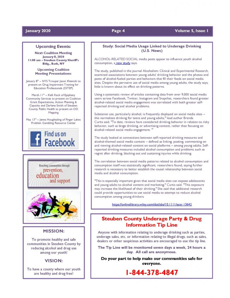 January 2020 Newsletter Page 4 791x1024 - Steuben Prevention Coaliton - Ounce of Prevention Newsletter