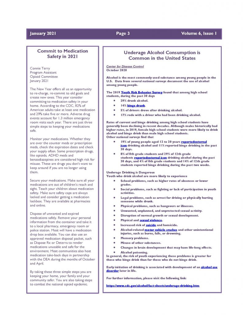 January 2021 Newsletter Page 3 791x1024 - Steuben Prevention Coalition - Ounce of Prevention (January)