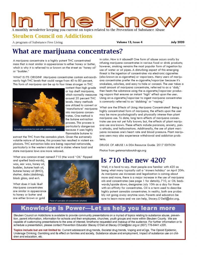 July 002 Page 1 791x1024 - Steuben Council on Addictions - In the Know (July)