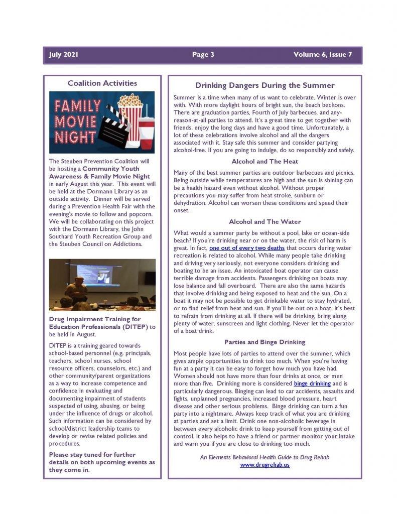 July 2021 Newsletter Page 3 791x1024 - Steuben Prevention Coalition - In the Know (July)