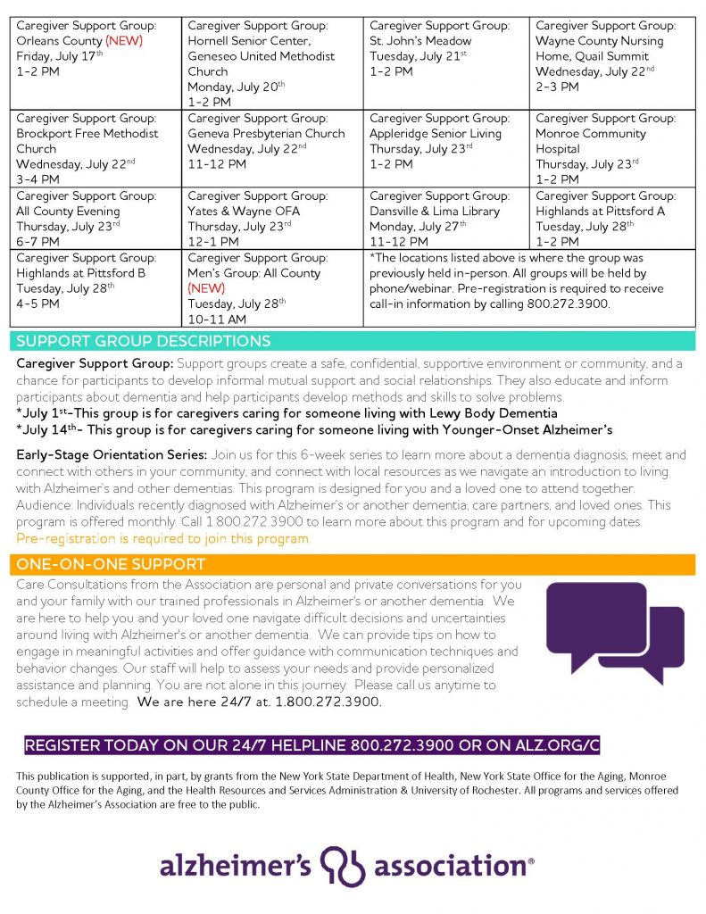July Calendar Page 3 791x1024 - Alzheimer's Association Resources and Upcoming Events