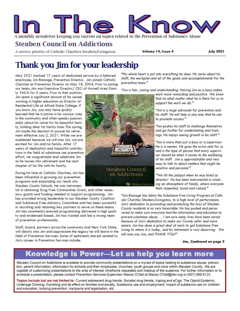 July Page 1 791x1024 - Steuben Council on Addictions Thanks Retiring Director
