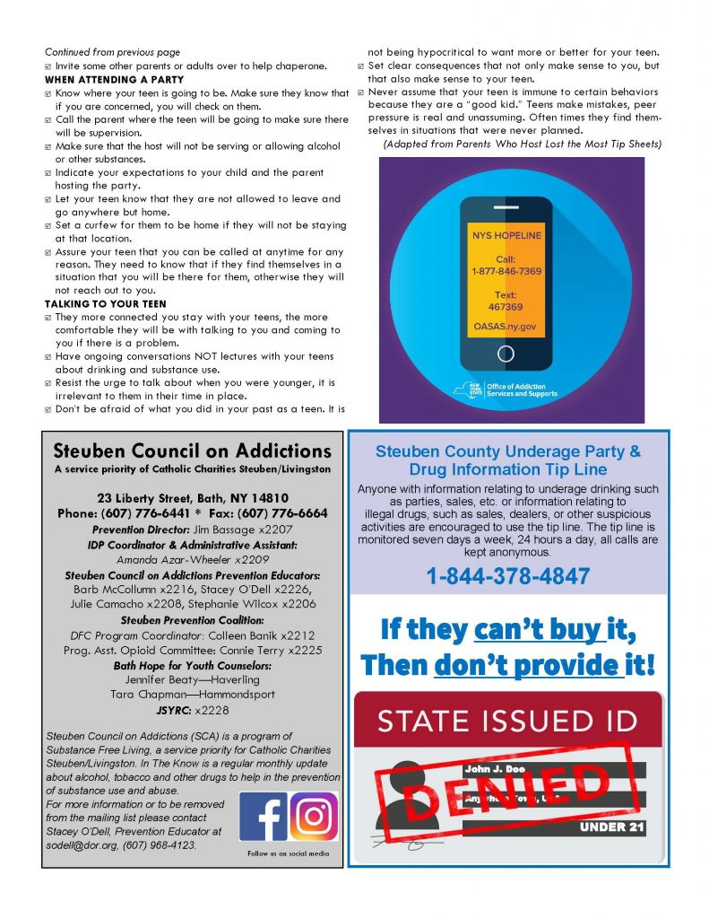 June 21 Page 2 791x1024 - Steuben Council on Addictions - In the Know (June)