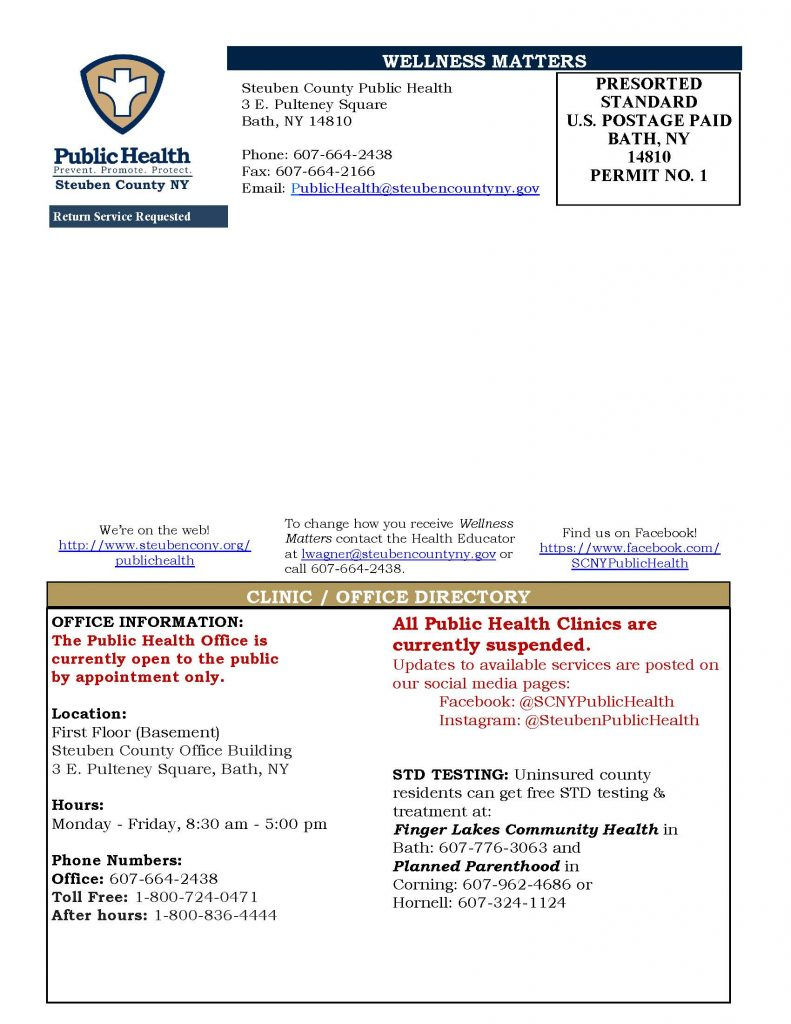 June July 20 Wellness Matters Page 4 791x1024 - Steuben County Public Health: Wellness Matters (June/July)
