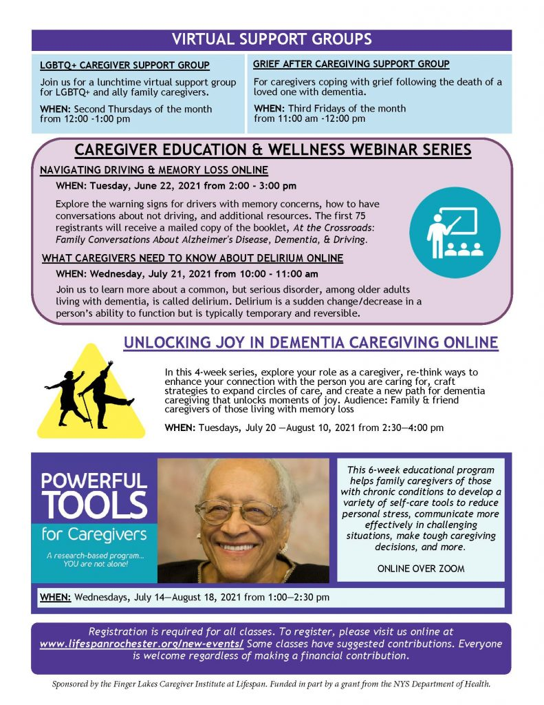 June July 2021 FLCI Education   Wellness Page 2 791x1024 - Finger Lakes Caregiver Institute - One-on-One Training Available