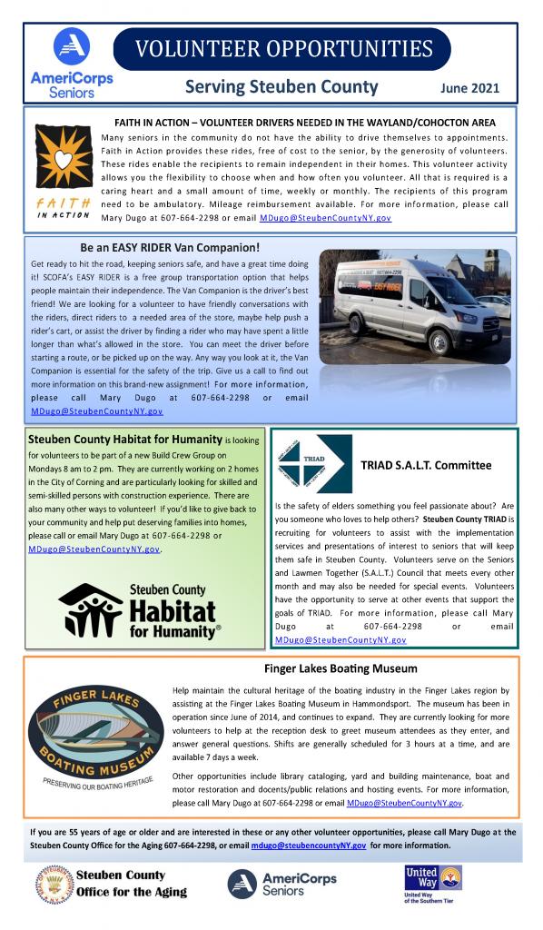 June newpaper ops 598x1024 - Americorps Senior Volunteer Opportunities (June)