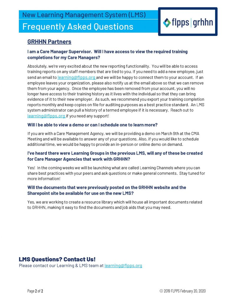 LMS Launch Q A Guide Page 2 791x1024 - FLPPS Launches Online Learning Platform on coronavirus