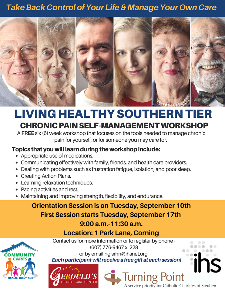 Living Healthy Southern Tier 15 - Living Healthy Southern Tier Chronic Pain Self-Management Workshops Return Soon