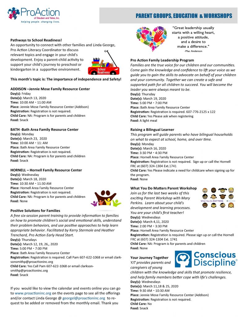 MARCH 2020 Resilient Children and Families Community Calendar Page 6 791x1024 - ProAction Resilient Children & Families Calendar