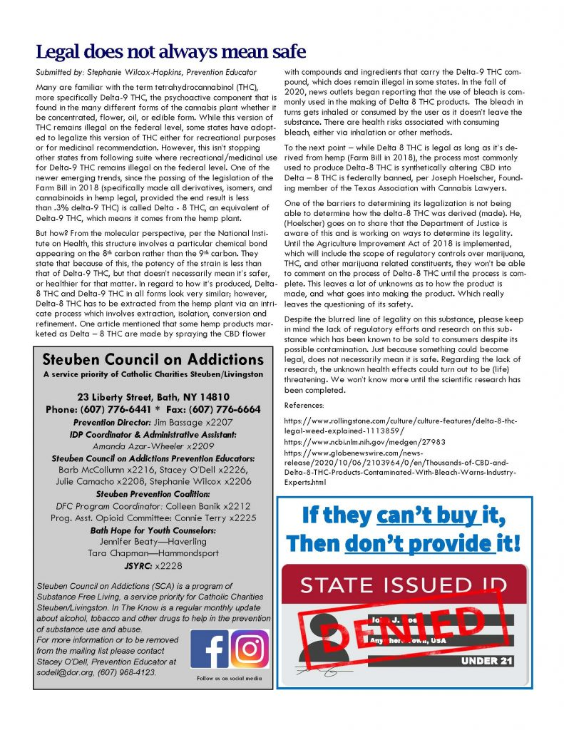 March Page 2 791x1024 - Steuben Council on Addictions: In the Know (March)