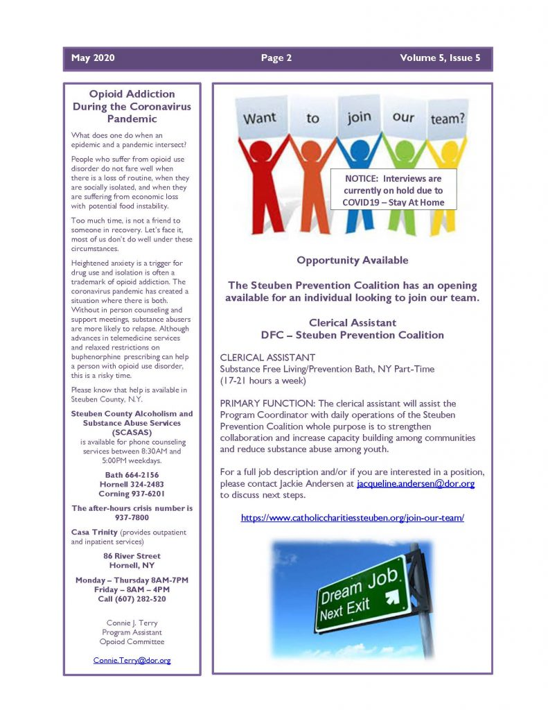 May 2020 Newsletter Page 2 791x1024 - Steuben Prevention Coalition - Ounce of Prevention