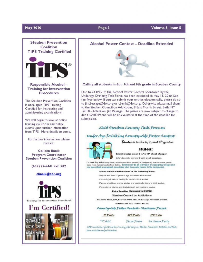 May 2020 Newsletter Page 3 1 791x1024 - Ounce of Prevention Newsletter (May)