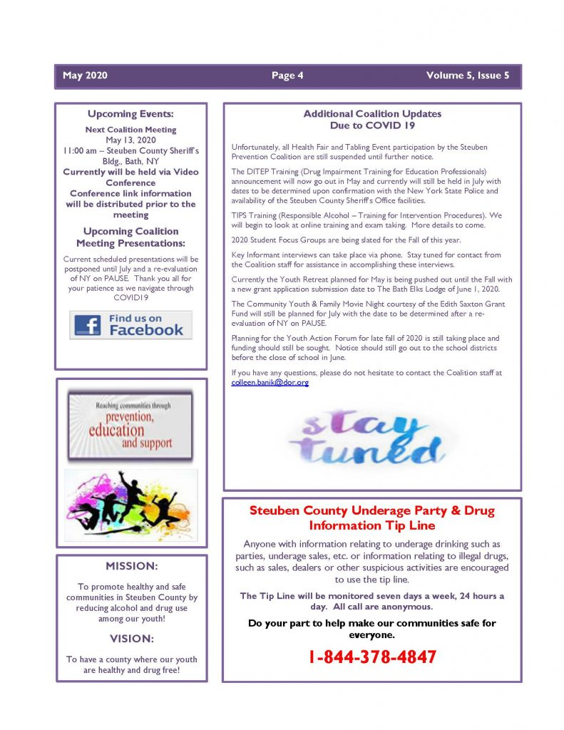 May 2020 Newsletter Page 4 791x1024 - Steuben Prevention Coalition - Ounce of Prevention
