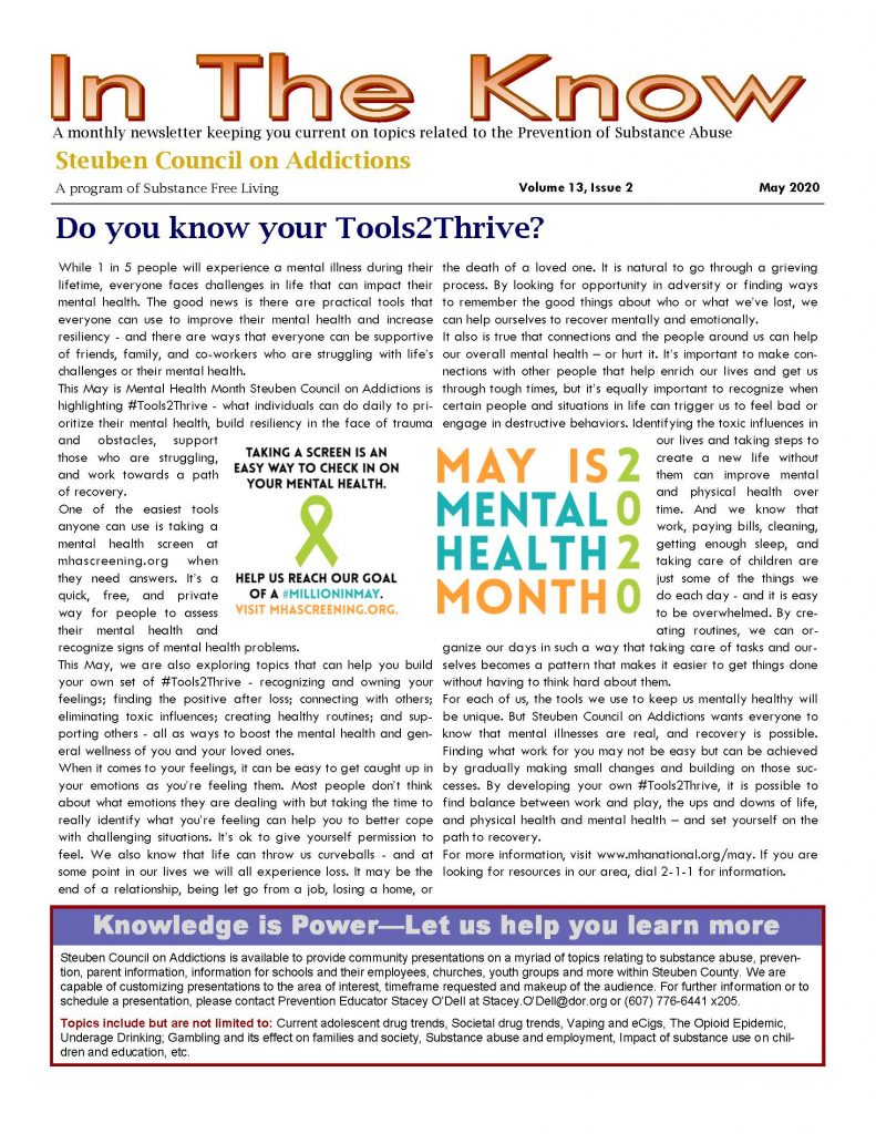 MayInTheKnow Page 1 791x1024 - Steuben Council on Addictions - In the Know