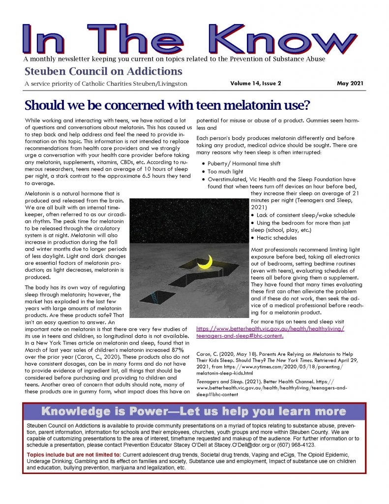 May Page 1 791x1024 - Steuben Council on Addictions - In the Know (May)