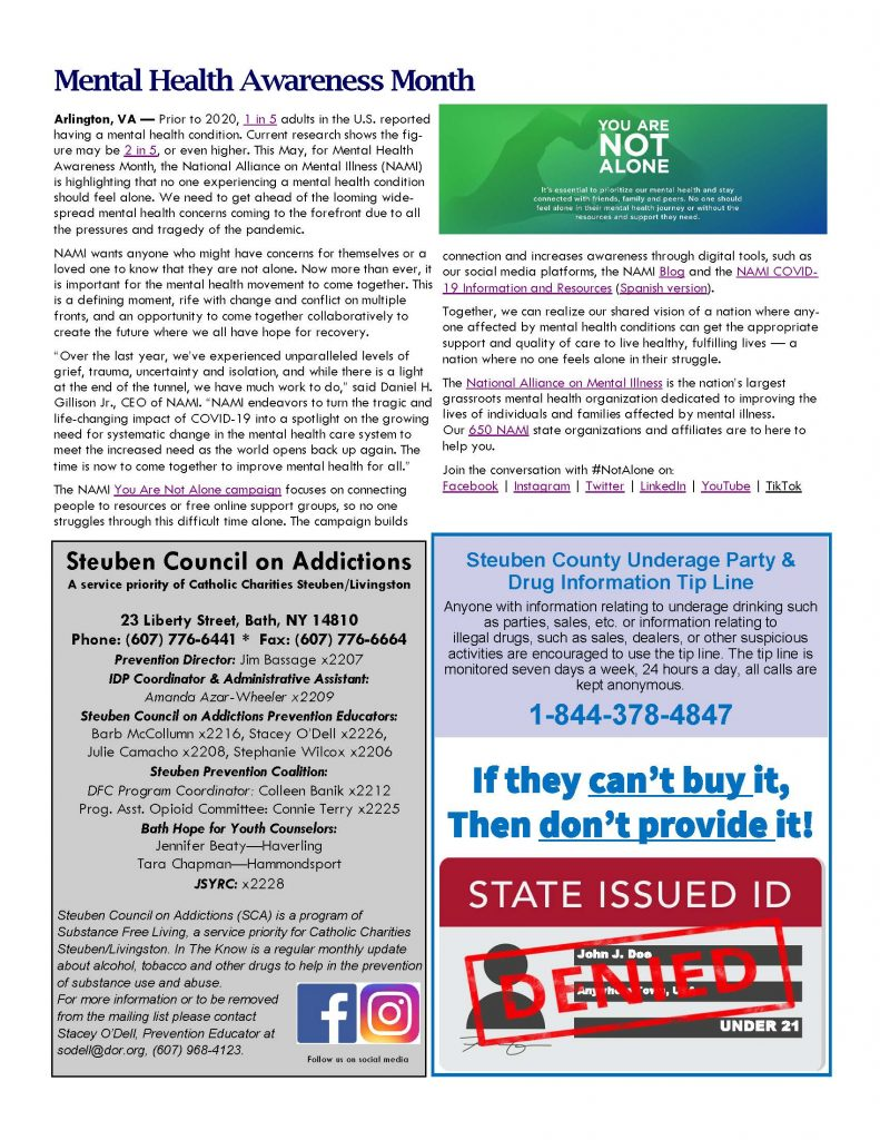 May Page 2 791x1024 - Steuben Council on Addictions - In the Know (May)