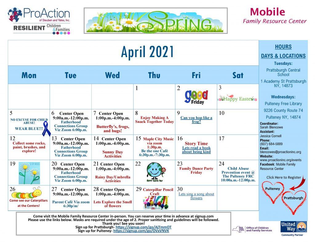 Mobile April Calendar 2021 1024x791 - ProAction Family Resource Center Calendars (April)