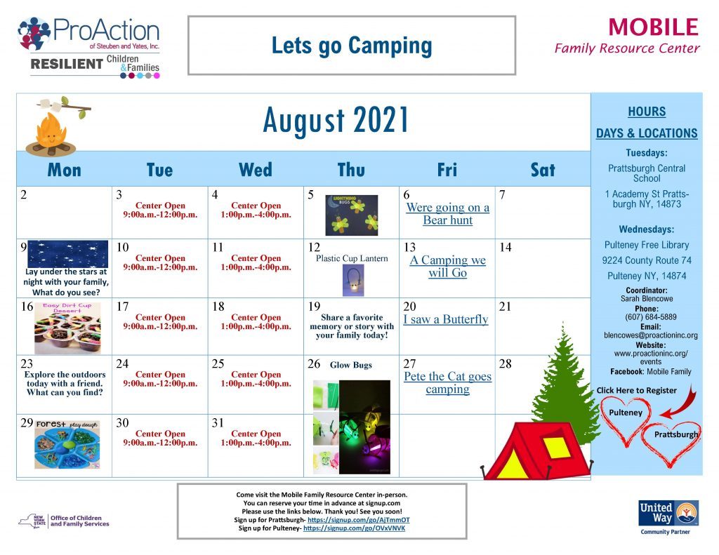 Mobile FRC August Calendar 2021 1024x791 - ProAction Family Resource Center August Schedules