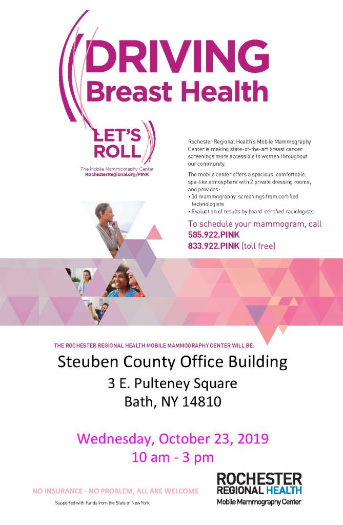 Mobile Mammo flyer for 10.23.2019 669x1024 - Worksite Wellness Partnership Brings Breast Health Bus to Bath