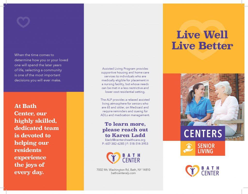 New Bath Center ALP Brochure Page 1 1024x803 - Bath Centers Senior Living Highlights Facility Changes