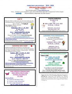 New Class schedule 2019 230x300 - New Class schedule - 2019
