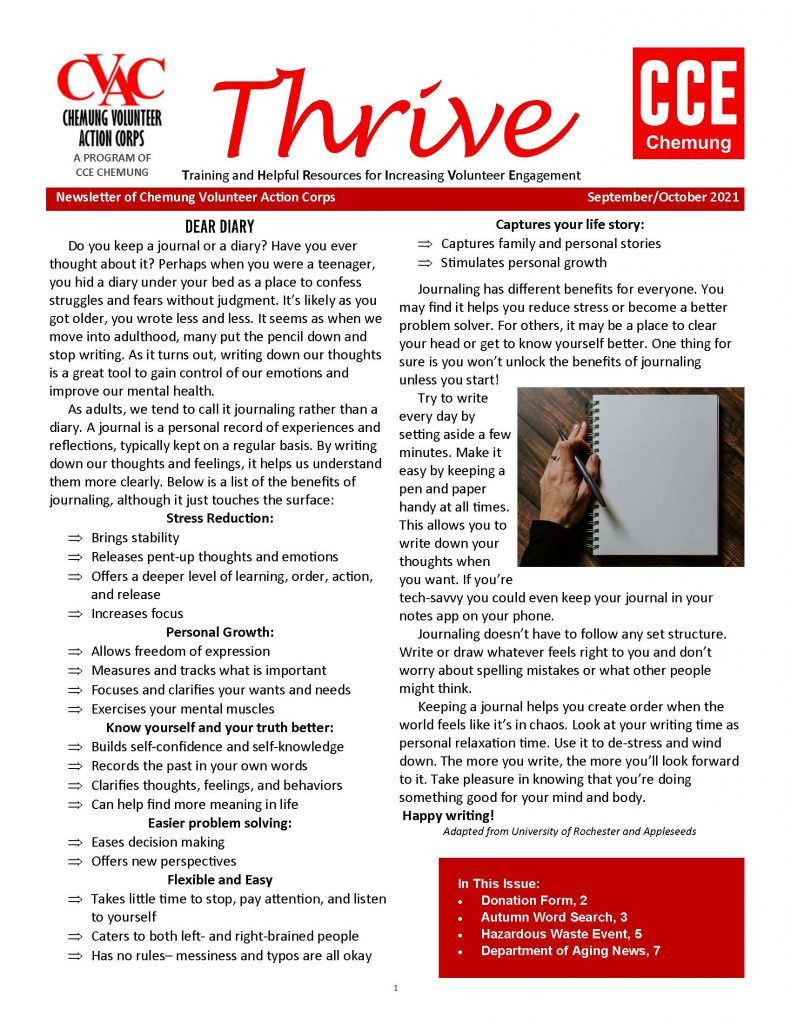 Newsletter Sept Oct 2021 Page 1 791x1024 - Thrive Newsletter - Chemung Volunteer Action Corps (Sept./Oct.)