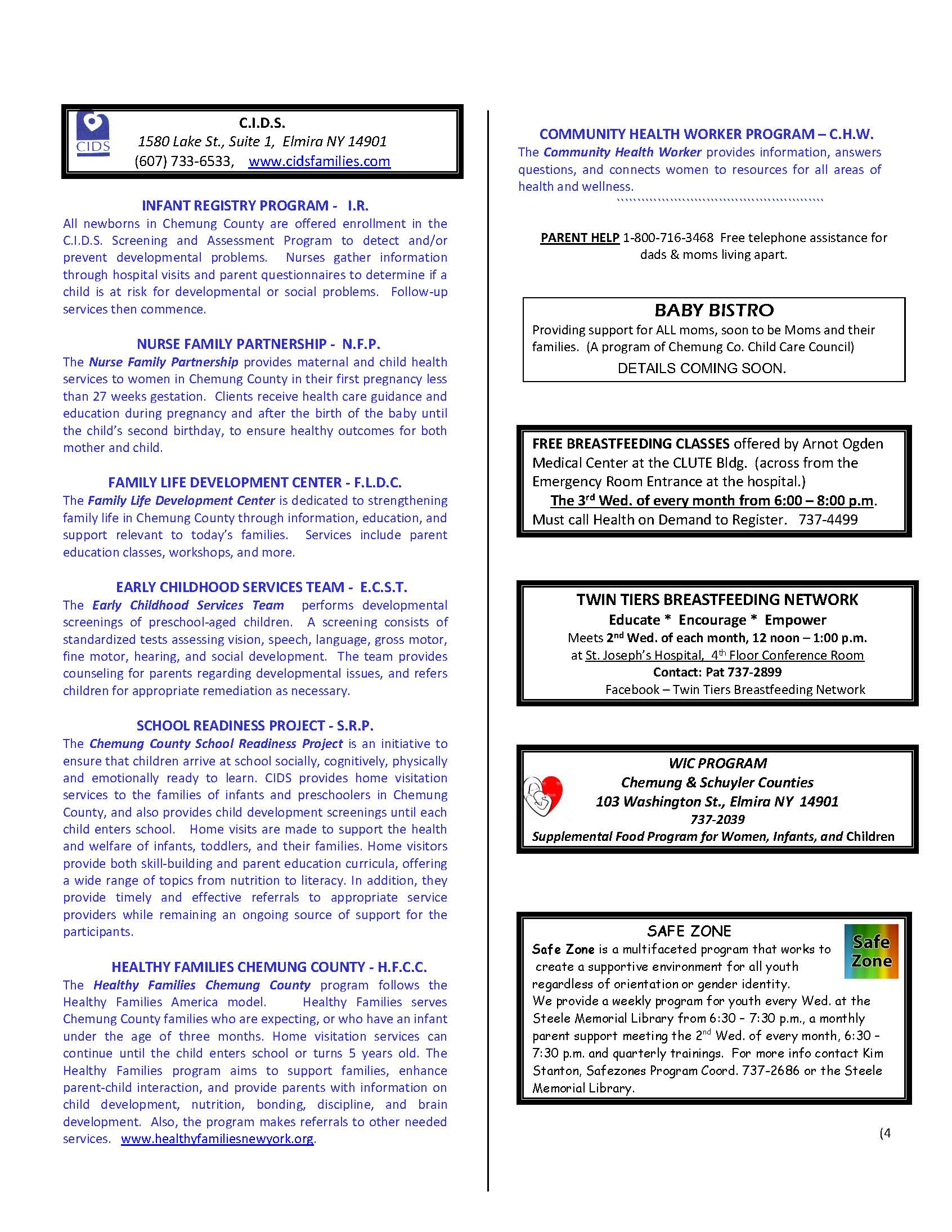 OCTOBER NEWSLETTER 2019 Page 4 - CIDS October News and Services Update
