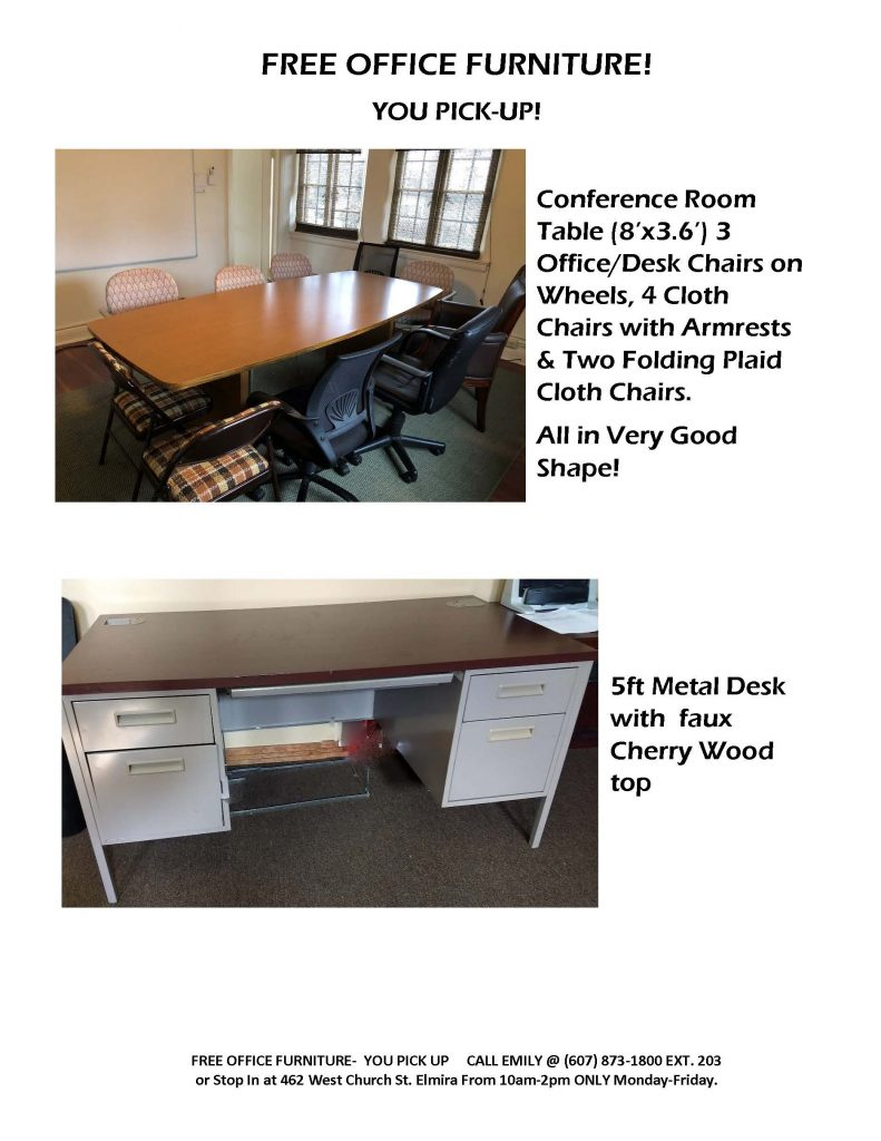 OFFICE FURNITURE POSTING Page 1 791x1024 - Bridges for Brain Injury Offers Free Furniture