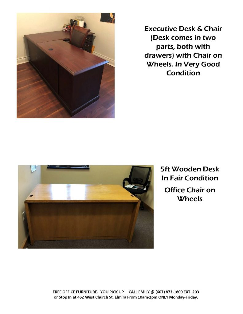 OFFICE FURNITURE POSTING Page 2 791x1024 - Bridges for Brain Injury Offers Free Furniture