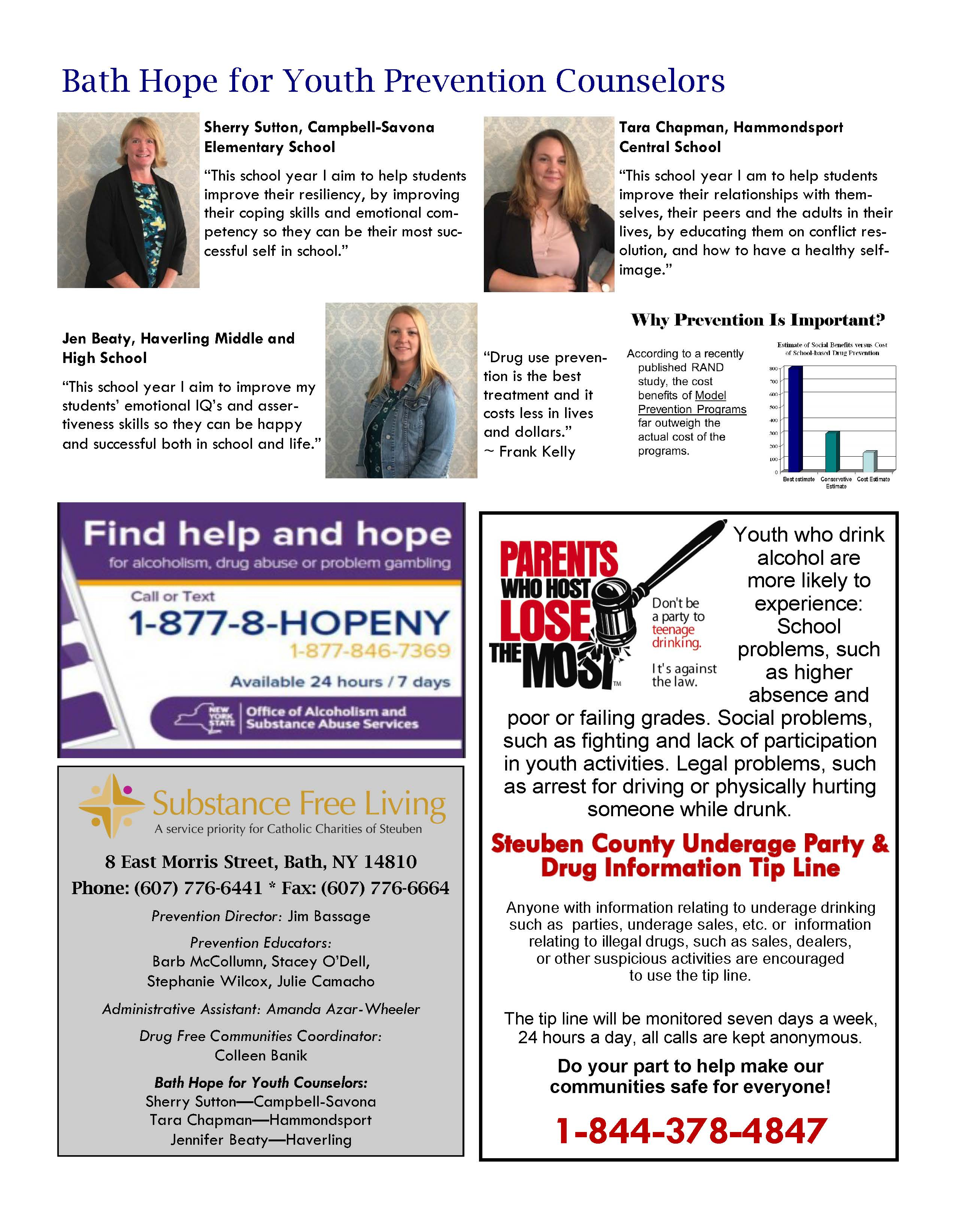 October 2019 Page 2 - In the Know - Steuben Council on Addiction News