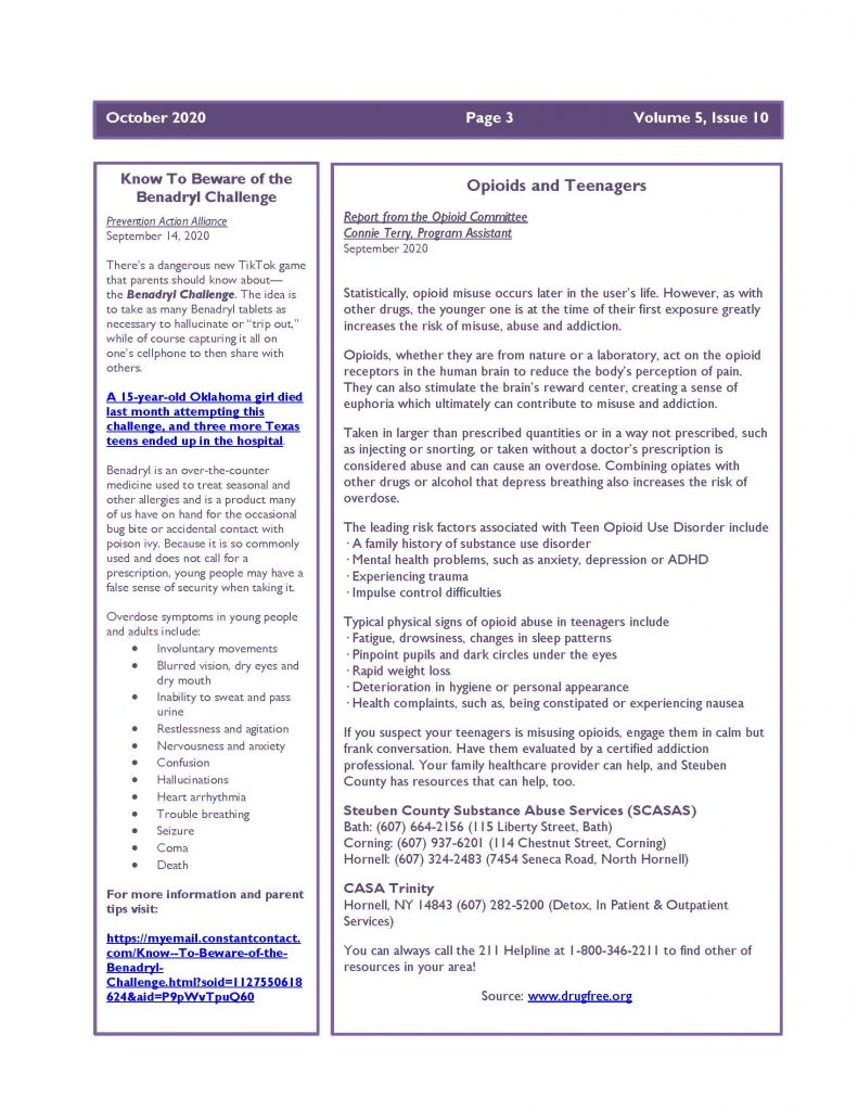 October 2020 Newsletter Page 3 791x1024 - Steuben Prevention Coalition - Ounce of Prevention (October)