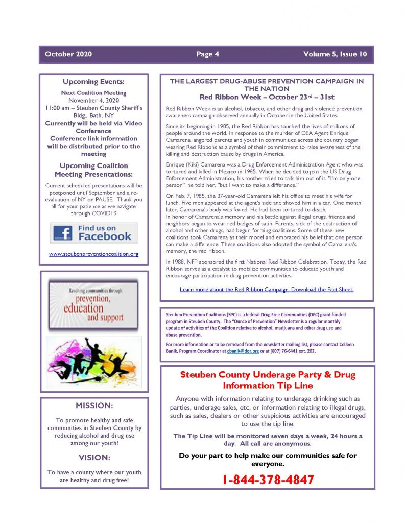 October 2020 Newsletter Page 4 791x1024 - Steuben Prevention Coalition - Ounce of Prevention (October)