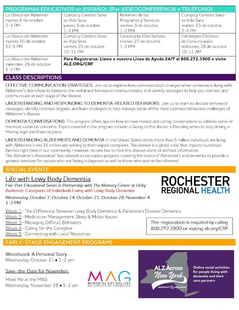 October Calendar 1 Page 2 791x1024 - Alzheimer's Association October Virtual Program Schedule