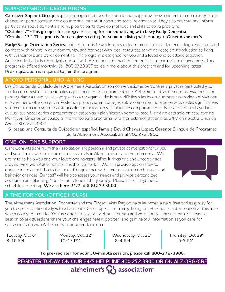 October Calendar 1 Page 4 791x1024 - Alzheimer's Association October Virtual Program Schedule