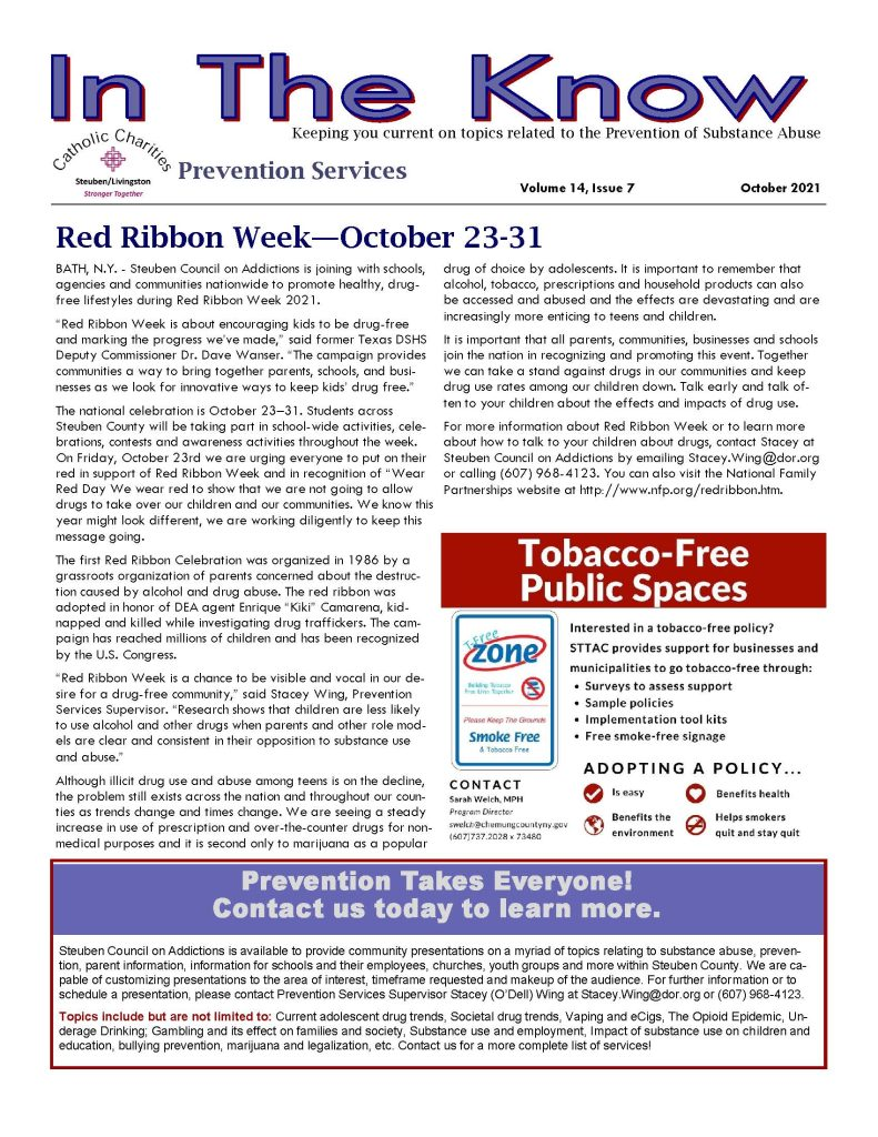 October Page 1 791x1024 - Catholic Charities Steuben/Livingston Prevention Services - In the Know (October)