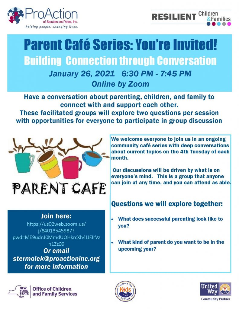 Parent Cafe on ZOOM 1 26 21 791x1024 - Upcoming Virtual Cafes, Parent Education, and Events from Pro Action