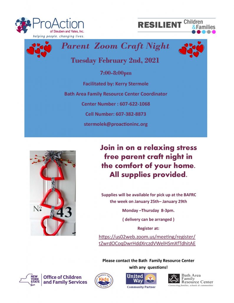 Parent craft night 794x1024 - ProAction Resilient Children & Families Events in February