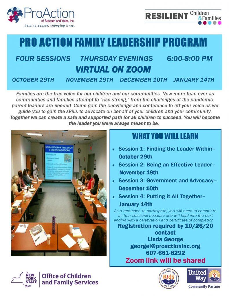 Pro Action Family Leadership Program now ALL VIRTUAL 1 791x1024 - ProAction Family Leadership Training Moved Online
