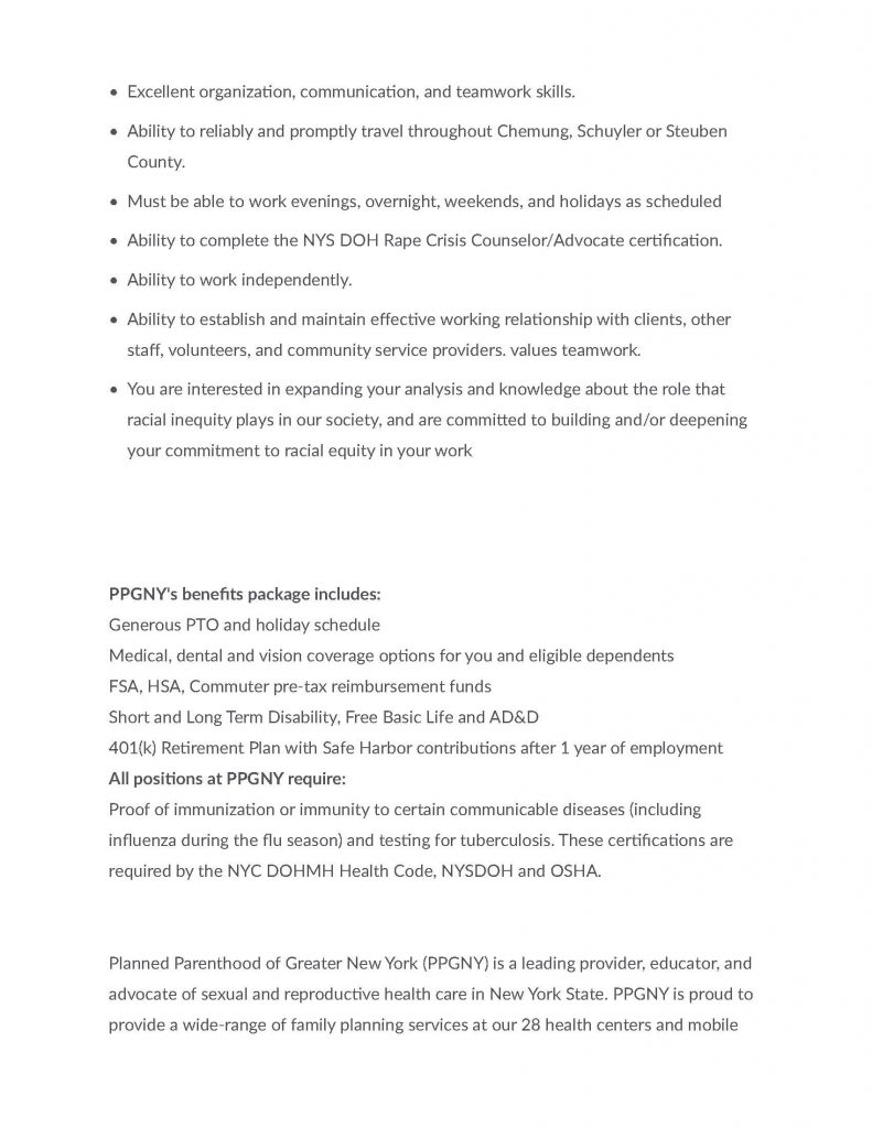 Rape Crisis Counselor Advocate After Hours On Call 1 Page 3 791x1024 - Job Post: PPGNY Rape Crisis Counselor/Advocate (Part Time, After Hours, On-Call)