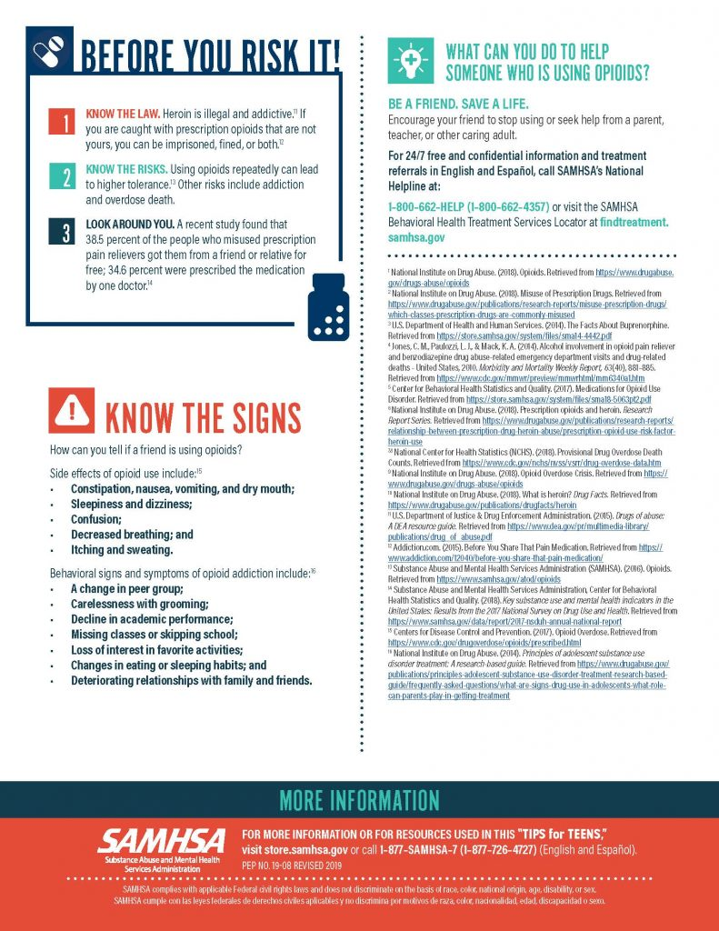 Samhsa Tips for Teens Page 2 791x1024 - Tips for Talking to Teens About Opioids