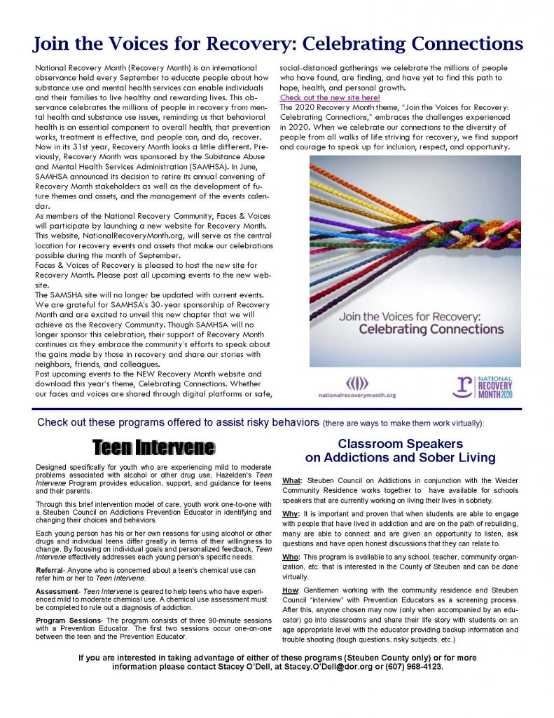 September 1 Page 2 791x1024 - Steuben Council on Addictions - In the Know (September)