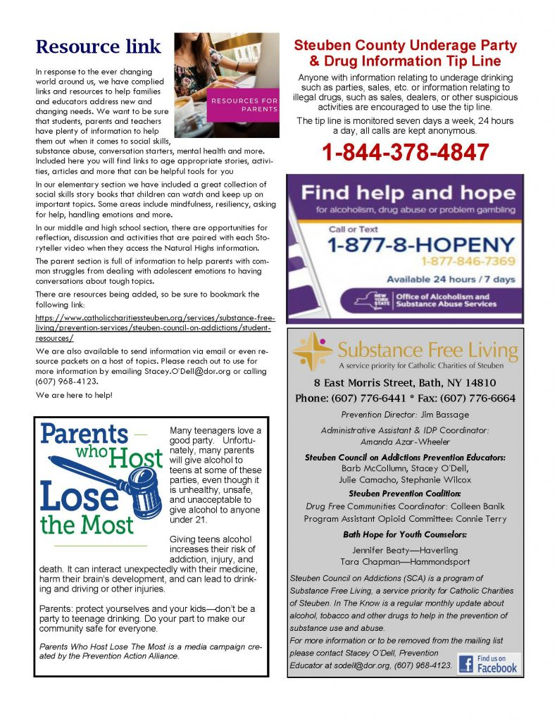 September 1 Page 4 791x1024 - Steuben Council on Addictions - In the Know (September)