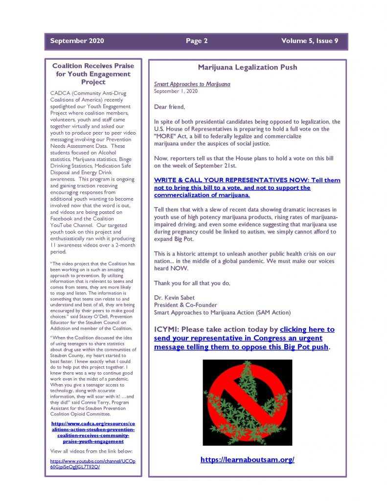 September 2020 Newsletter 1 Page 2 791x1024 - Steuben Prevention Coalition - Ounce of Prevention (September)