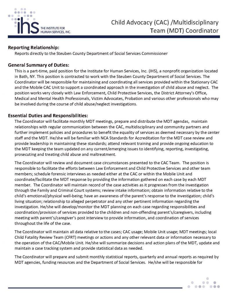 SteubenCountyCAC Page 1 786x1024 - Job Post: Child Advocacy (CAC) /Multidisciplinary Team (MDT) Coordinator