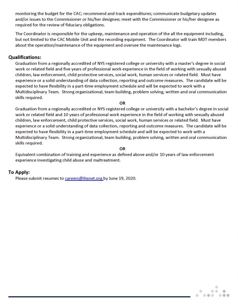 SteubenCountyCAC Page 2 791x1024 - Job Post: Child Advocacy (CAC) /Multidisciplinary Team (MDT) Coordinator