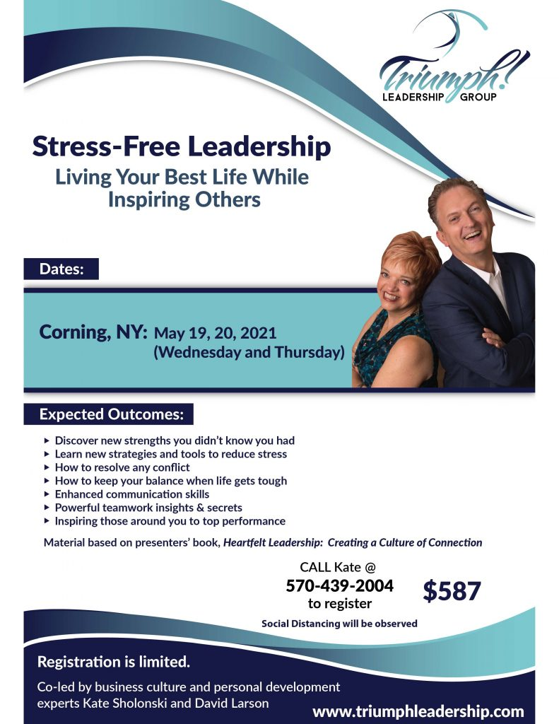 Stress free flyer May 2021 791x1024 - Stress-Free Leadership Sessions w/ Triumph Leadership Group