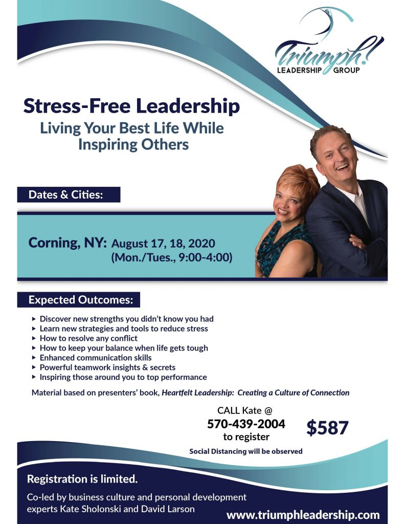 Stress Free Workshop Flyer Aug. 2020  792x1024 - Triumph Leadership Offers Socially Distanced Presentations